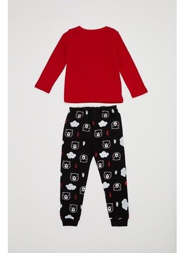 DeFacto Erkek Bebek Baskılı Pijama Takımı Kırmızı